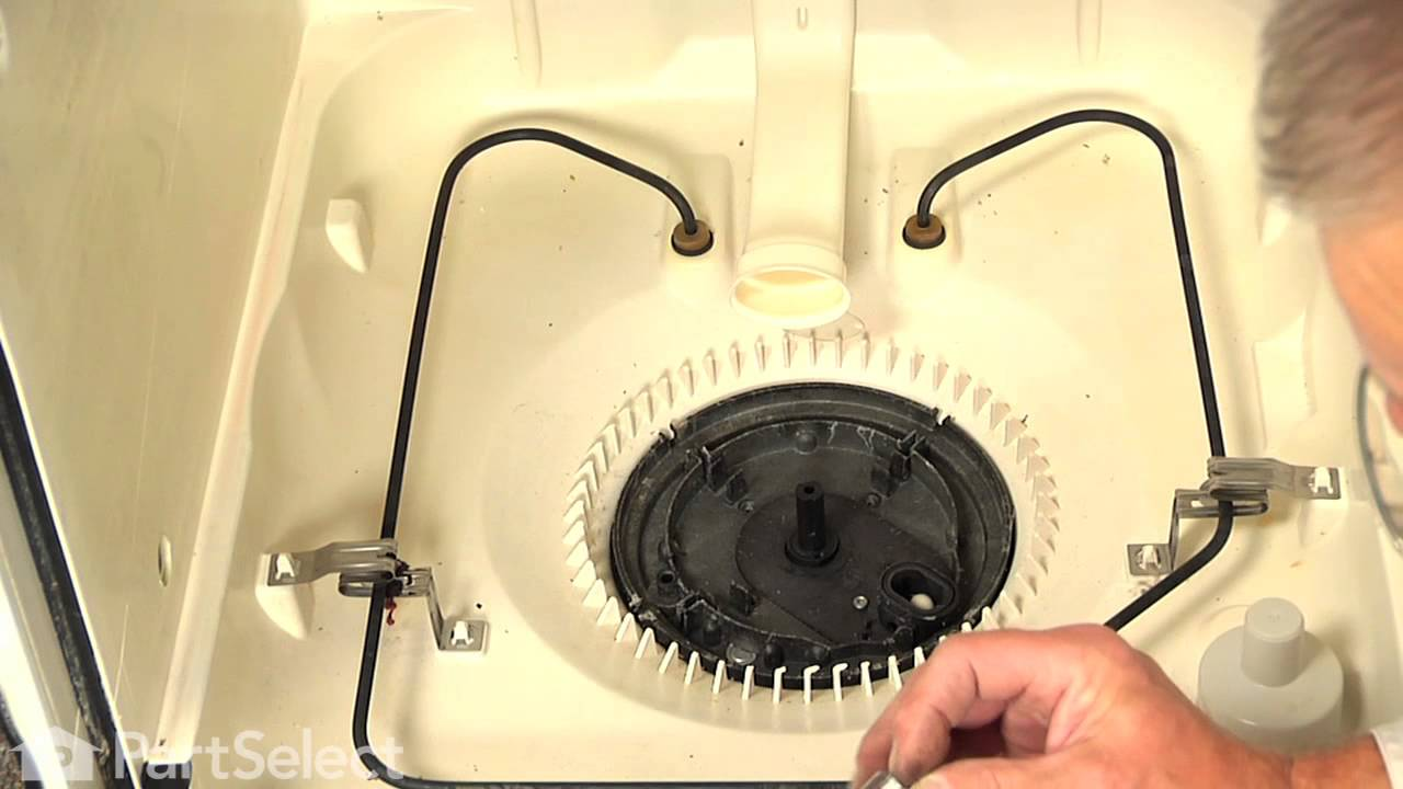 Dishwasher Repair Replacing The Drain And Wash Impeller