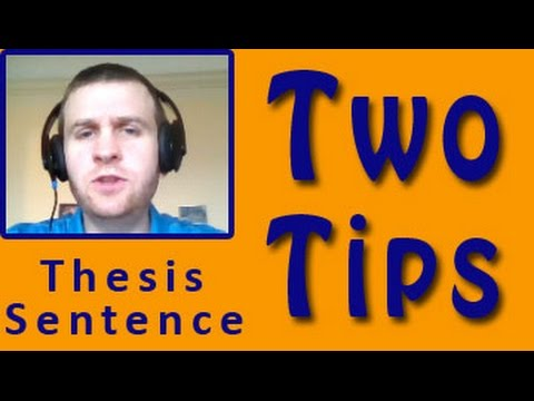 Thesis Statements: Two Tips for Science Papers