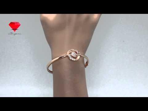 Bije.ru: Браслет с покрытием розовым золотом и фианитами Orabel (Орабель)