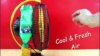 How to Make a Homemade Mini Air Cooler Using Plastic Bottle ( Low cost DIY )