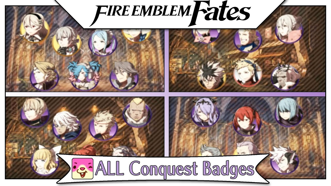 Fire Emblem Fates ALL Conquest Badges From Nintendo Badge - Fire emblem fates map pack 3 us