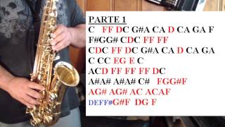 YAKETY SAX (THE BENNY HILL THEME SONG) - TUTORIALES PARA EL SAX ALTO - SANTIAGO PACHECO
