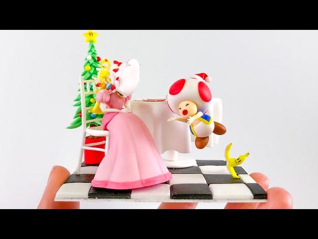 【粘土】クリスマスパーティーでやらかすキノピオ 作ってみた【マリオ】