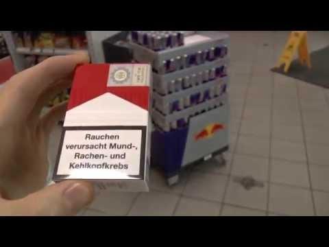 Реклама сигарет в Германии. Цена 266 Рублей пачка.