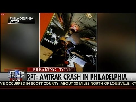 Amtrak Train Crash Near Philadelphia