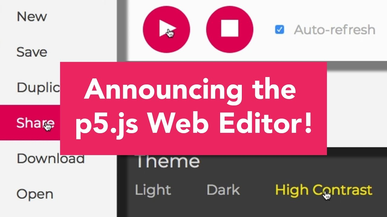 Announcing the p5 js Web Editor!