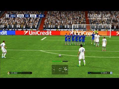 PES 2017 | Real Madrid vs Chelsea FC | Free Kick Goal G.Bale & Full Match | UEFA Champions League