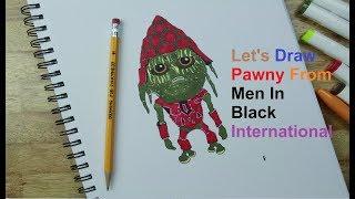 Men In Black International   How to draw Pawny (Kumail Nanjiani) from Men In Black Int'l (2019)