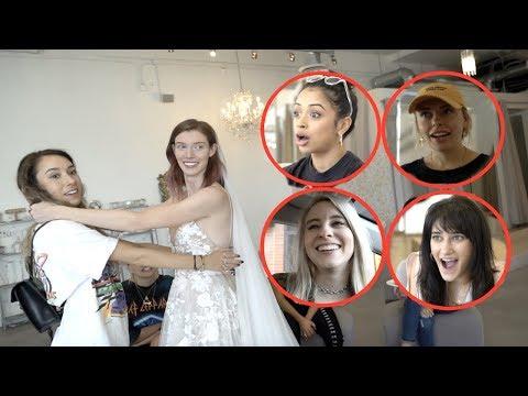 VLOG SQUAD GIRLS PICK OUT HER WEDDING DRESS!!