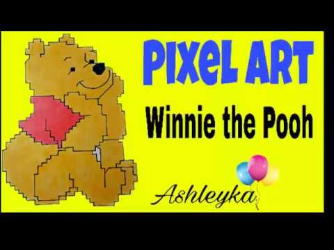 Pixel Art Drawing Winnie The Pooh Dessin En Pixels Youtube