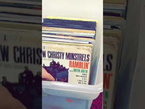 Vinyl shopping at thrift stores