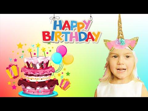 Birthday Party with Masha!!! Baking birthday cake, surprises, play games with Masha