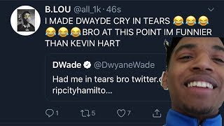 D WADE POSTED ME !!!