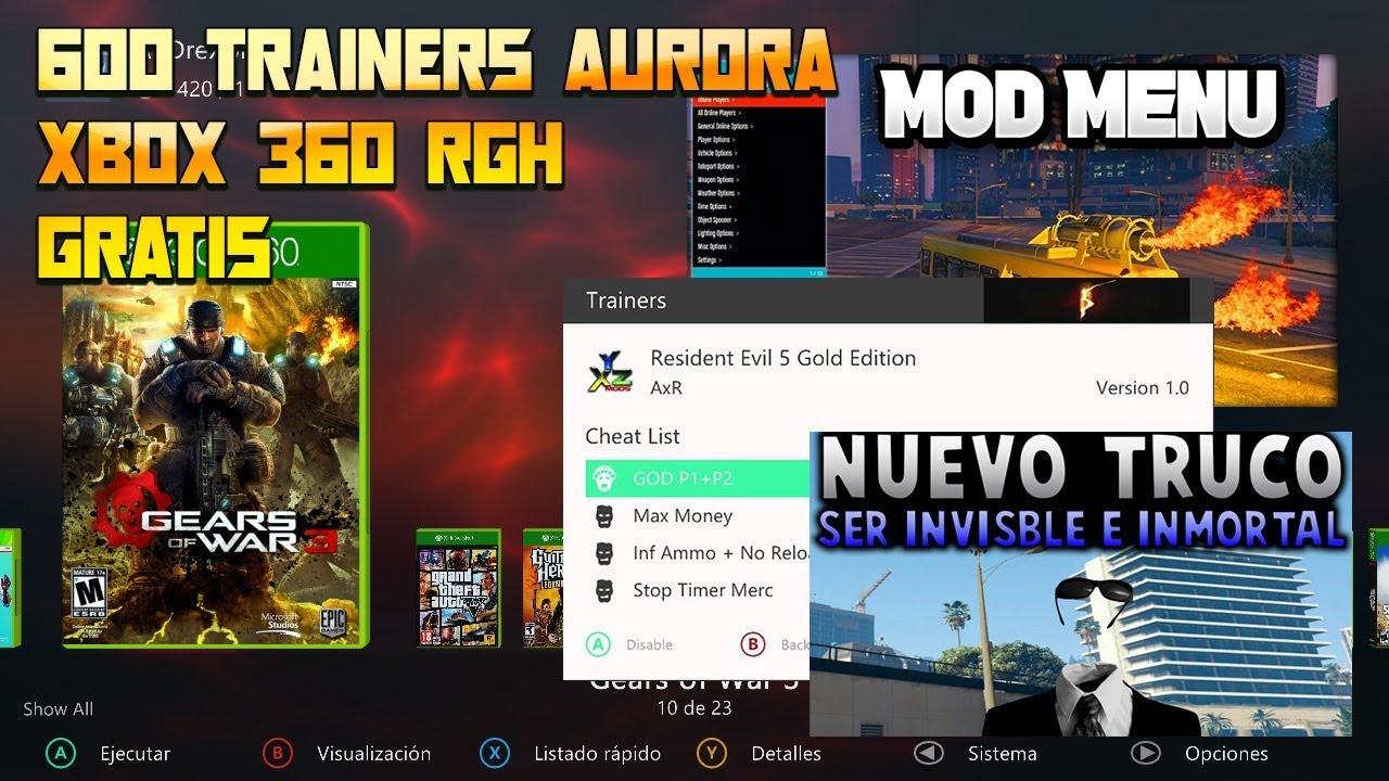 600 Trainers Para Aurora Xbox 360 RGH