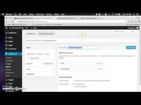 Wordpress 2015 Theme Add Social Links