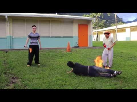Stop Drop And Roll Test With Fire