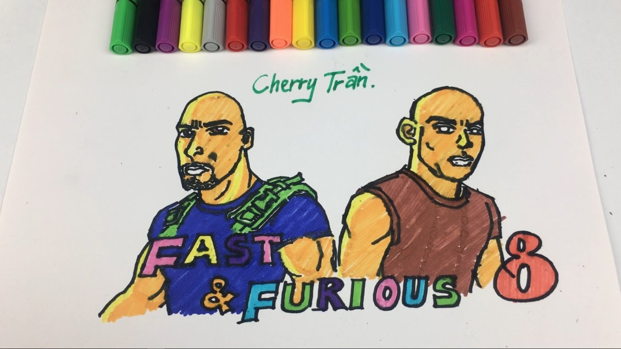 coloring pages fast and furious 8 drawing pages to learning