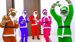 Color Song with Santa Clous and Color Candy Lollopops