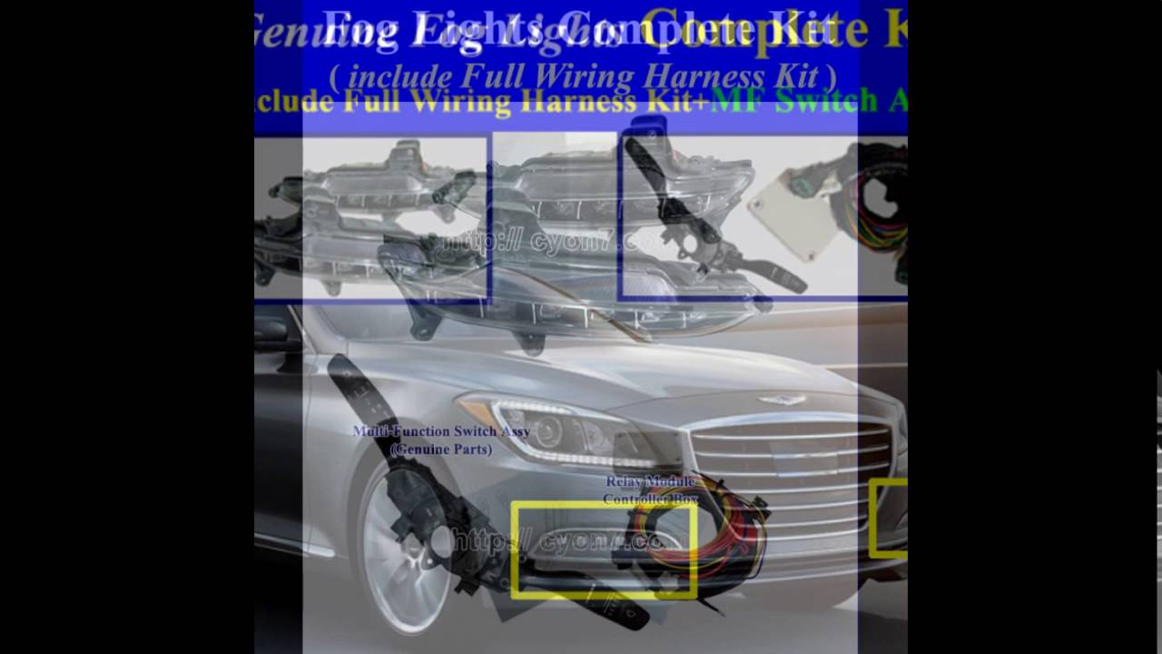 medium resolution of 2015 2016 hyundai genesis sedan fog light lamp