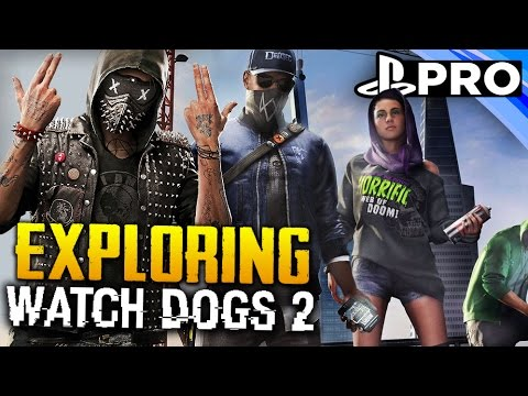 Watch Dogs 2 | Free Roam Parkour Mayhem! | PS4 PRO Gameplay Live Stream