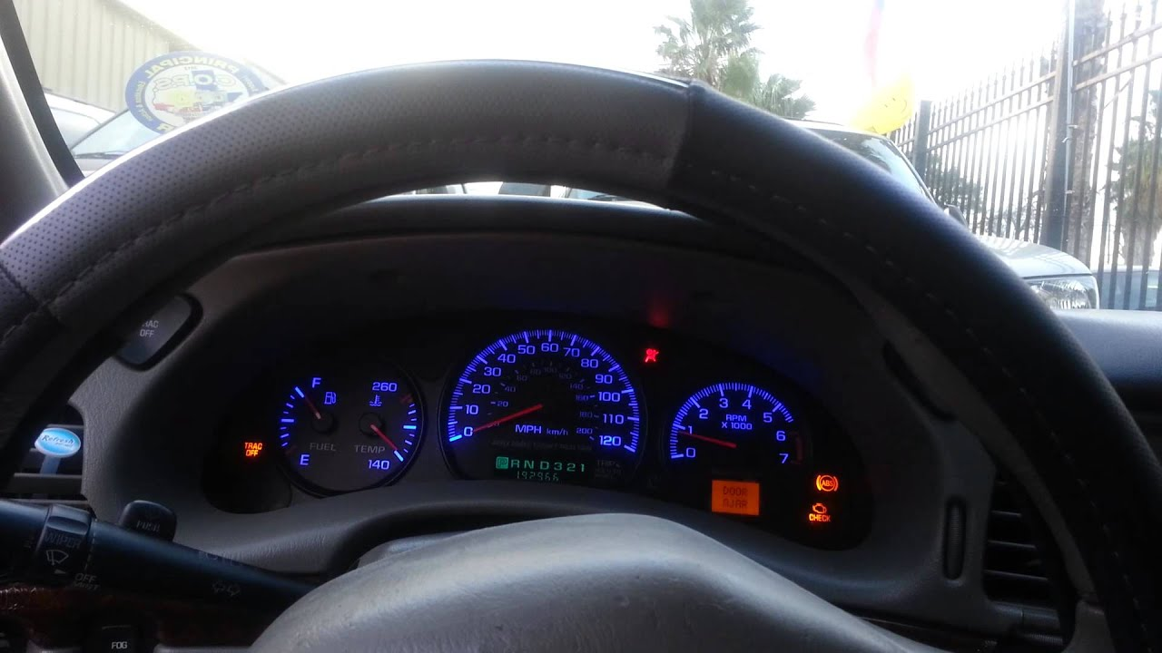 2001 Chevrolet Impala Cluster Led Conversion Youtube