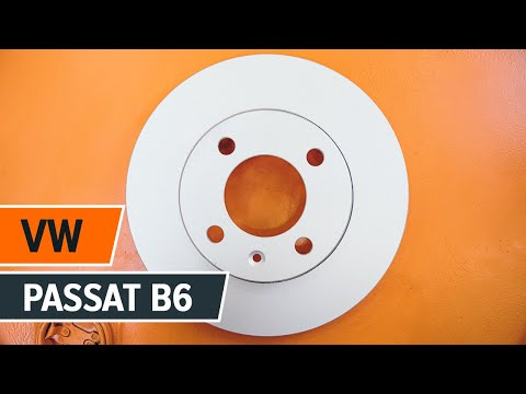 How to replace rear brake discs and rear brake pads on VW PASSAT B6  TUTORIAL | AUTODOC