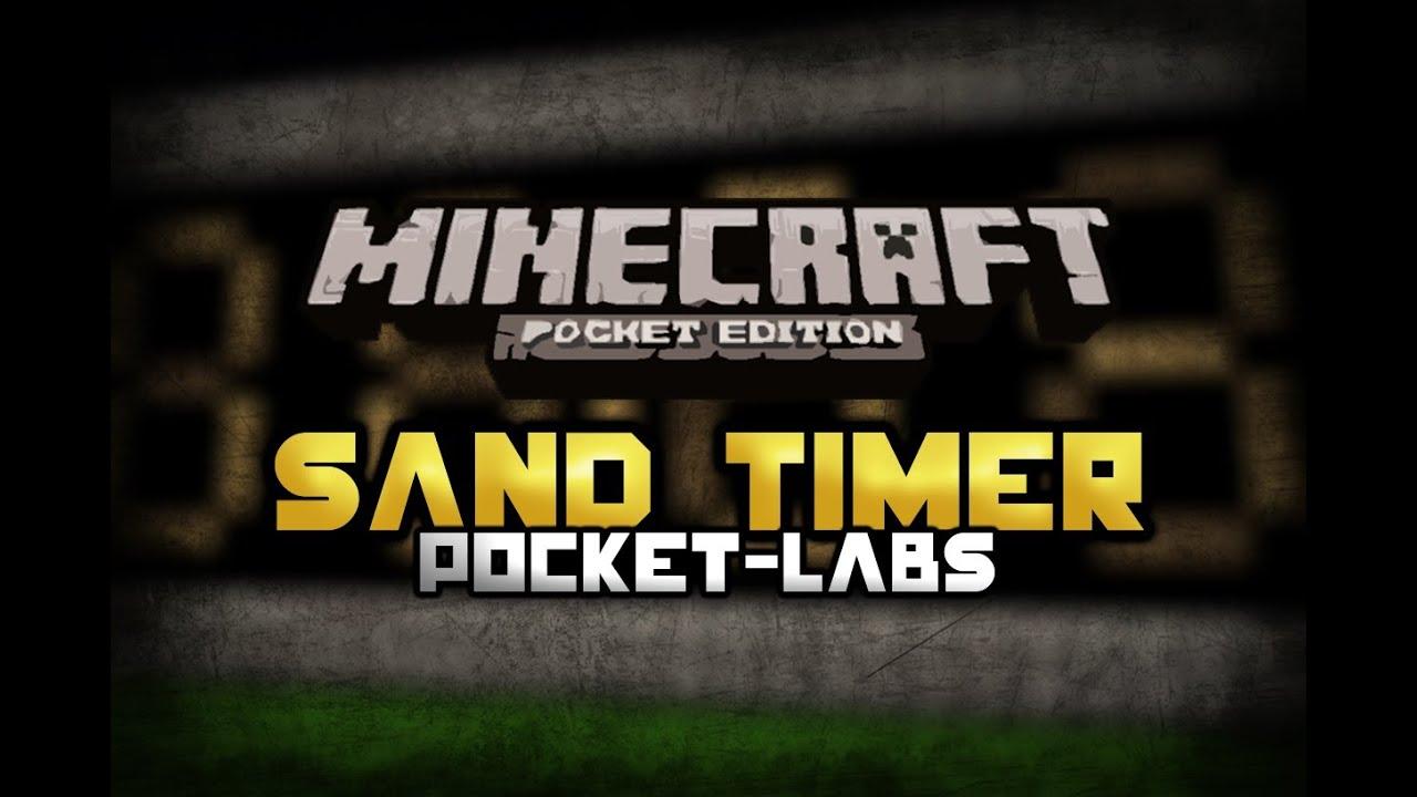 Sand Timer or Clock | Minecraft Pocket Edition | Pocket-Labs EP:5