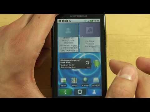 Motorola Defy Test Bedienung