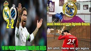 MEMES REAL MADRID VS CLUB BRUJAS 2-2 | COURTOIS SALE DE CAMBIO | REAL MADRID EMPATA EN CHAMPIONS