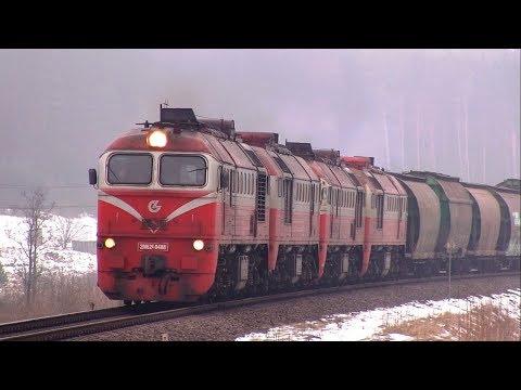 2М62к-0488 и 2М62к-0490 с грузовым поездом / 2M62K-0488 and 2M62K-0490 with a freight train