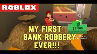We Robbed The Bank Finally:Roblox Jail Break