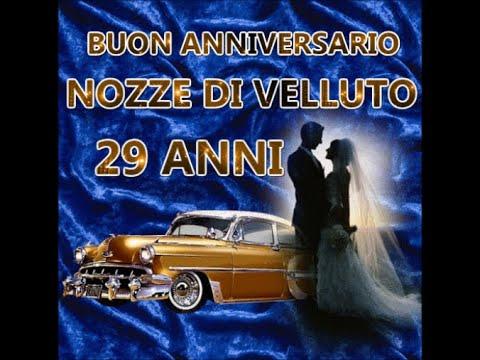 Anniversario Di Matrimonio 29 Anni.Buon Anniversario Nozze Di Velluto 29 Anni Di Matrimonio
