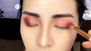 Hướng dẫn makeup tông Hồng Đất và vẽ lông mày phẩy sợi Ngang Thái