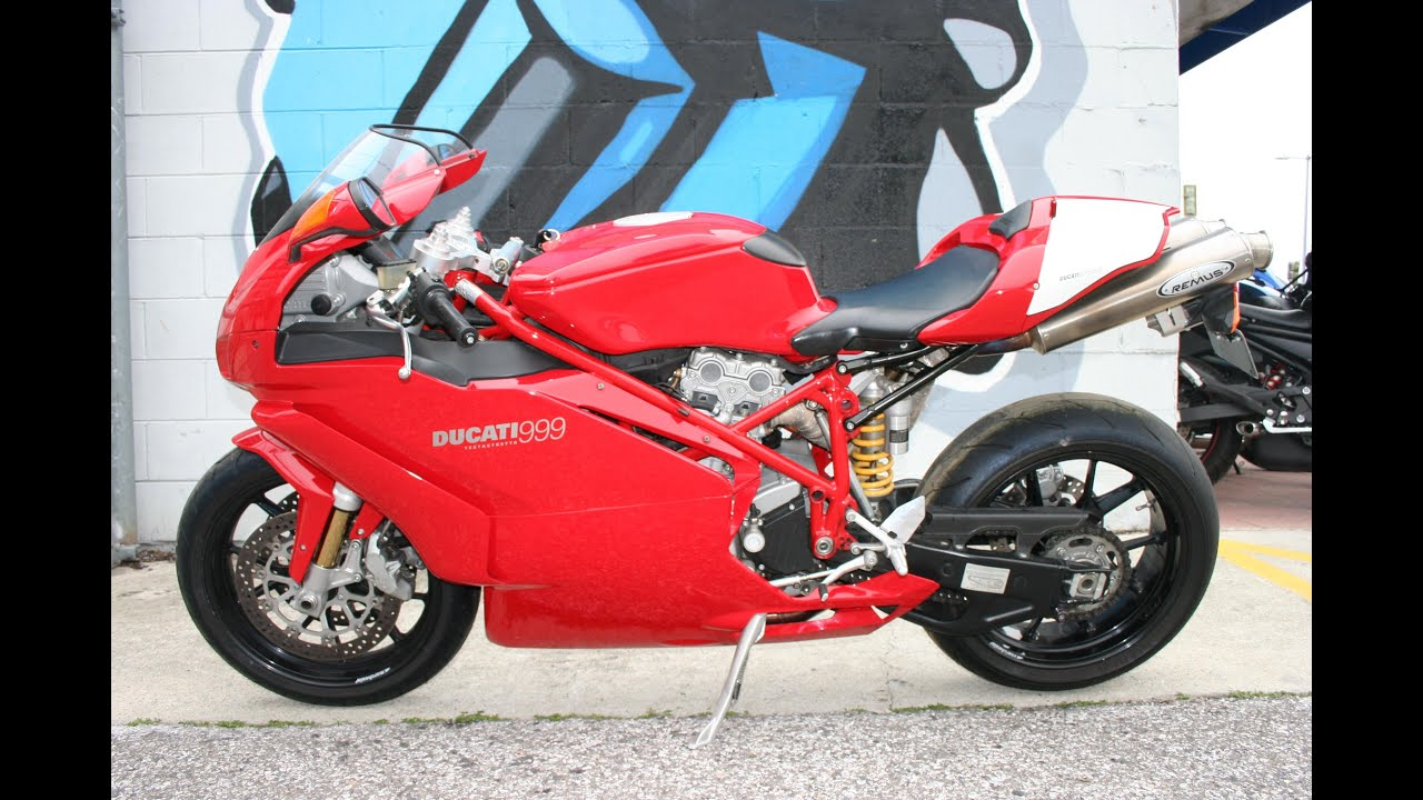 999_2005 Ducati 999 Monoposto ... Sounds great with Remus Exhaust! - YouTube