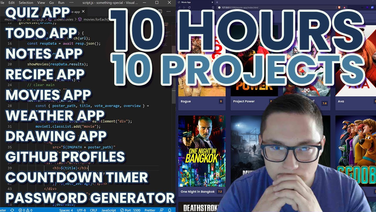10 JavaScript Projects in 10 Hours - Coding Challenge