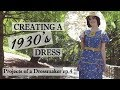 How I make a 1930's Style Dress -  Creation process of sewing a vintage dress