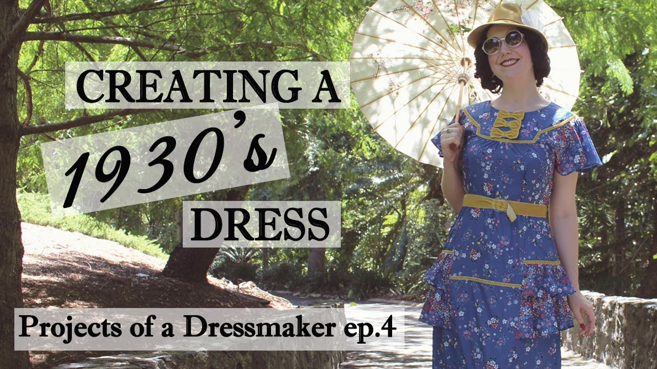 How I Make A 1930 S Style Dress Creation Process Of Sewing Vintage