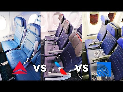 UNITED vs AMERICAN vs DELTA Economy Class | Which Airline Is