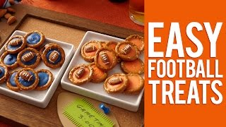 Quick And Easy Football Pretzel Treats
