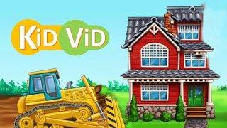 Adım l İle Çocuklar İçin çizgi film Video l Ev Yapımı, Adım Adım Ev l Çocuk ViD Yapı