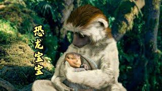 小恐龙被一只母猴子收养,长大成了恐龙之王,奇幻动物电影