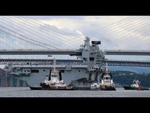 Largest ever Navy ship, HMS Queen Elizabeth, sets sail