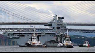 Largest ever Navy ship, HMS Queen Elizabeth, sets sail