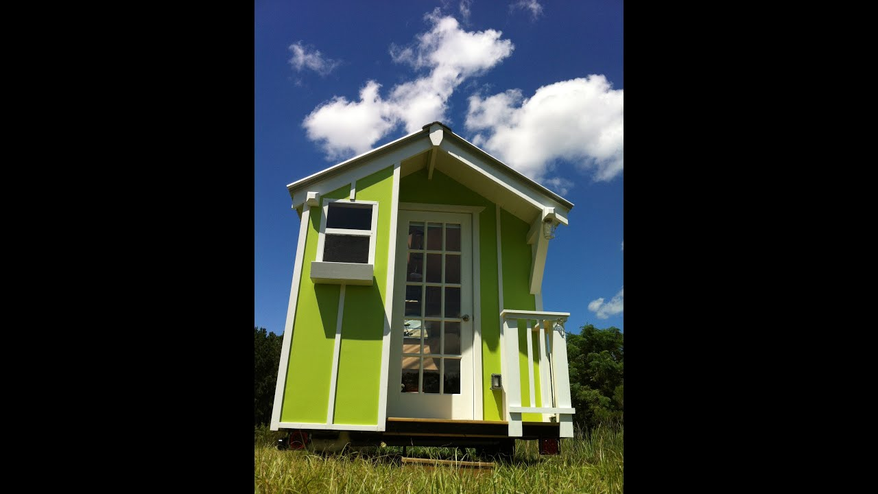 Cute Lime Green 72 sqr ft Tiny house by Trekker Trailers YouTube