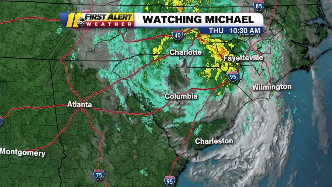 LIVE: Tropical Storm Michael coverage: Storm moves into NC