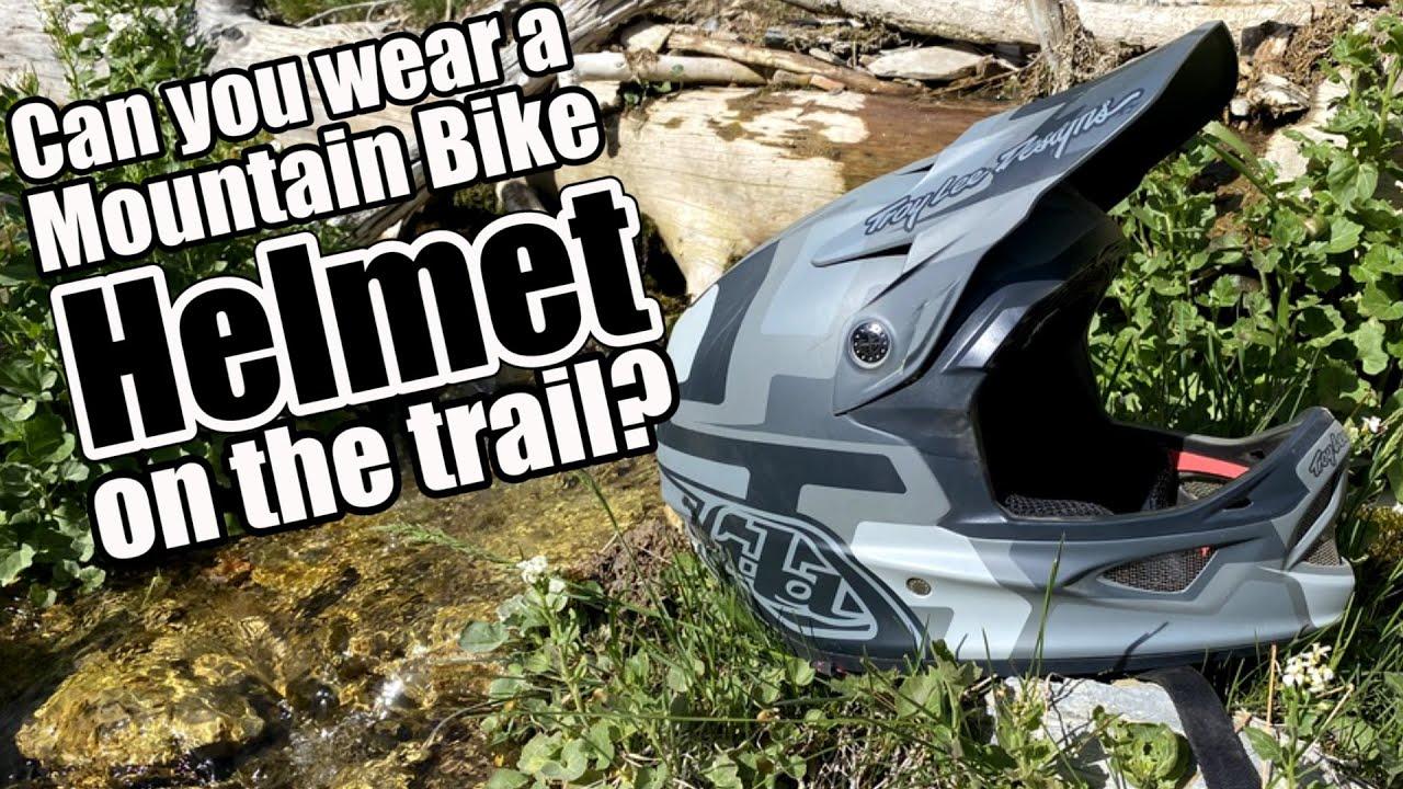 Can you Wear a Mountain bike Helmet on the Dirt Bike trails?