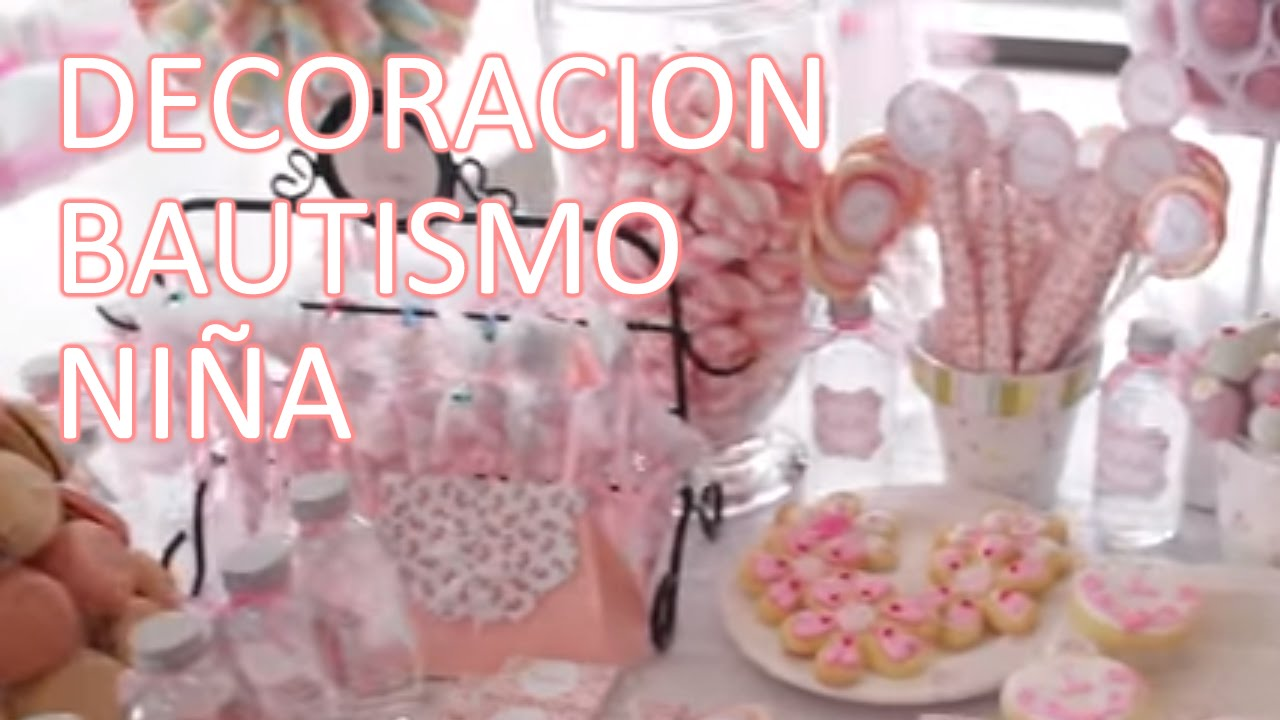 Decoracion bautismo antonella di pietro youtube for Fiestas elegantes decoracion