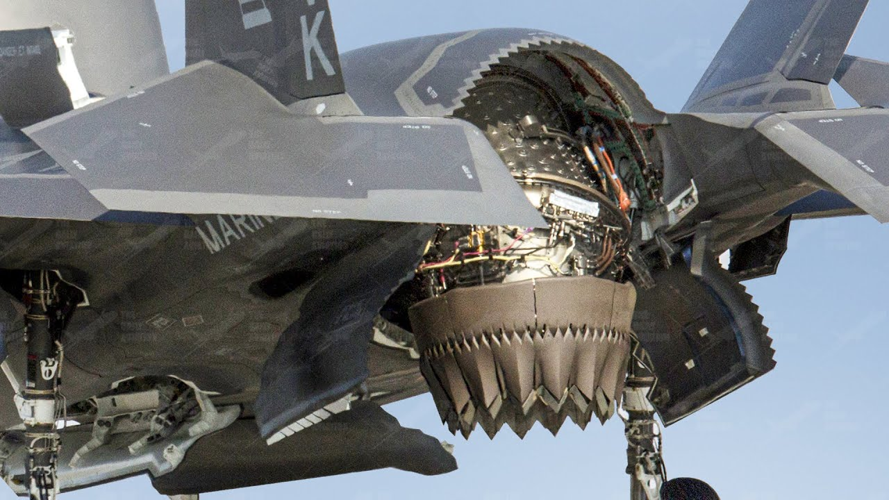 Download Hypnotic US F-35 Aircraft Landing Like an Helicopter