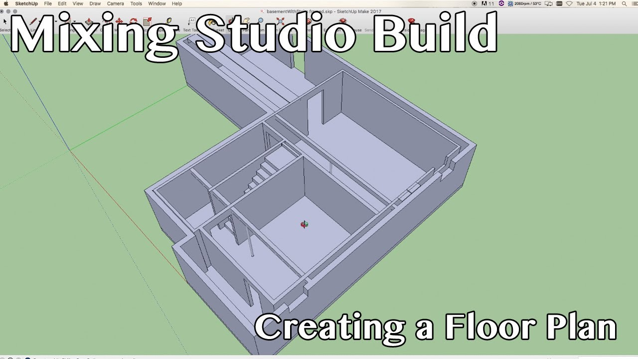 Mixing Studio Build   Creating A Floor Plan Using Sketchup