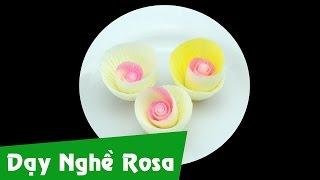 Dạy làm bánh kem: Hoa hồng socola